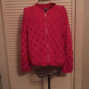Hot Pink Lace Jacket